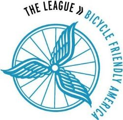 The Bicycle Friendly Community logo is a servicemark owned by the League of American Bicyclists.