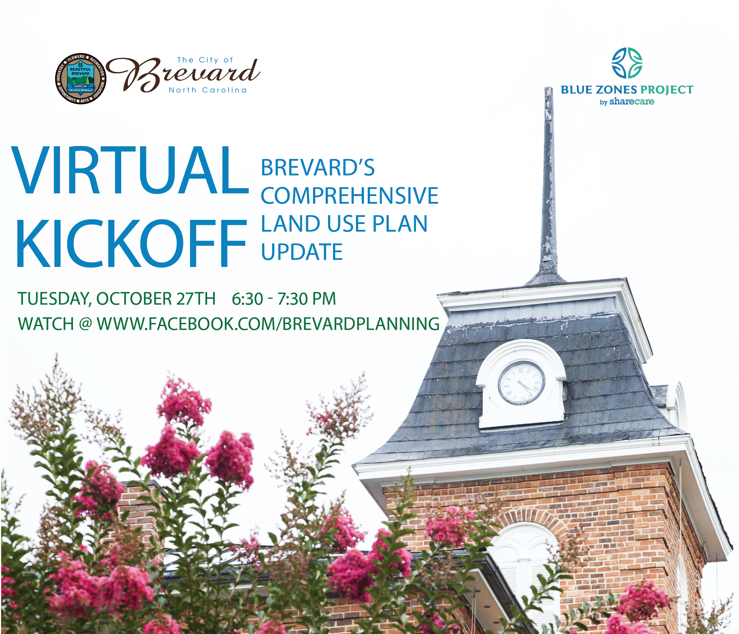 Comprehensive Land Use Plan Virtual Kickoff Flyer