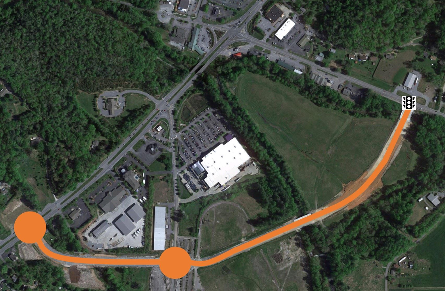Davidson River Village Connector New Road Alignment Map